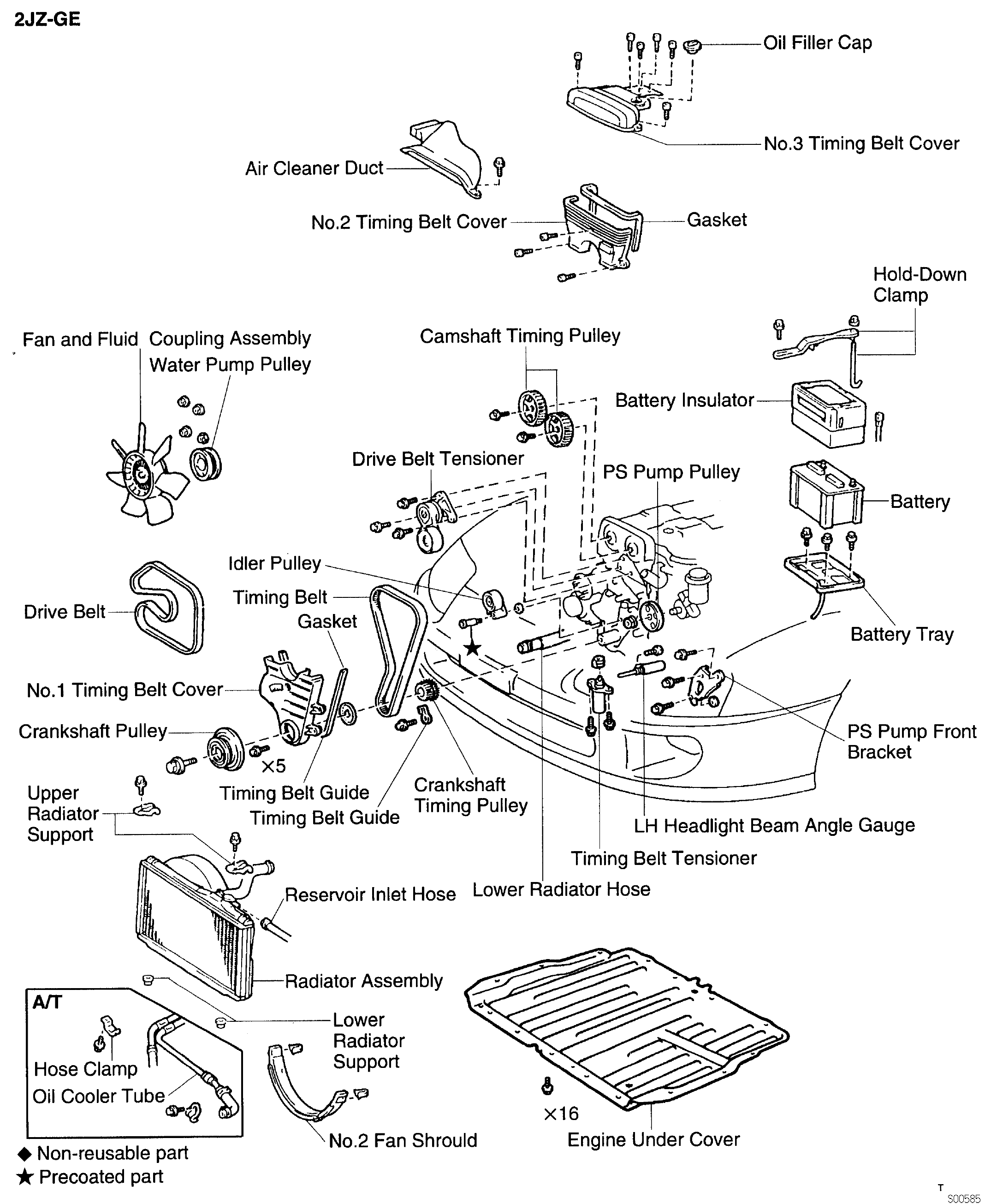 toyota supra jza80    2jz  timing belt components